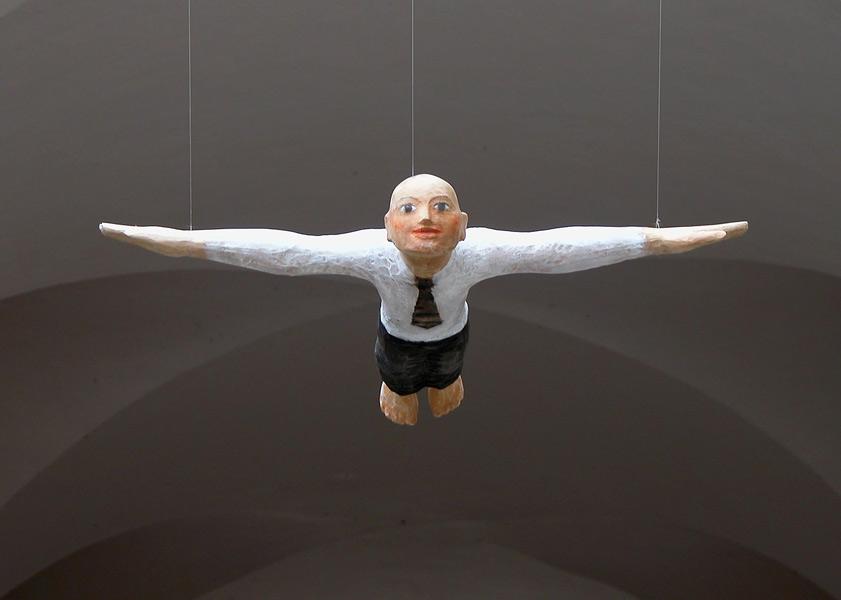 Flieger, Linde, Pigment, 2007, 65 cm