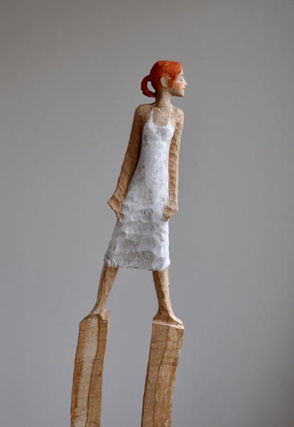 Windfrau, Eiche, Pigment, 2011, ca. 160 cm
